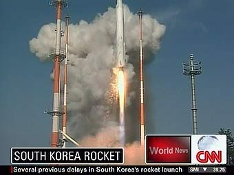 Южная Корея запустила свою первую ракету