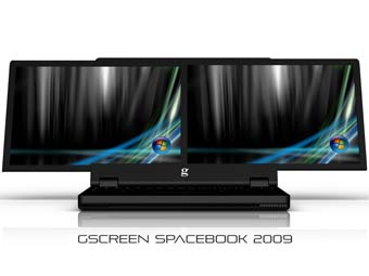 Разработан ноутбук с двумя 15-дюймовыми экранами