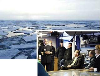 Генсек ООН осматривает тающие льды Арктики