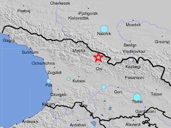 Гидрометцентр Грузии сообщил о землетрясении магнитудой 8