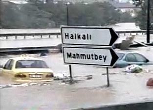Проливные дожди вызвали сильные наводнения в Турции