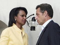 Райс и Саркози призвали Россию и Грузию прекратить огонь