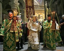 В иерусалимском храме подрались христианские священники