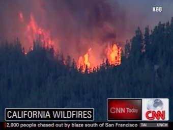 Две с половиной тысячи калифорнийцев эвакуированы из-за лесных пожаров