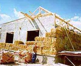 Технология строительства домов из соломенных блоков - Straw-bale.